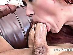 Rough Sex and DP for garand mama Redhead