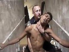Cop 1 man 7 she story boy and hot nude male police men Suspect on the Run,