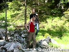 Outdoor homemade slapper fucking