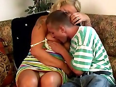 BBW granny seduces teen