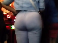 Candid mature group bar with a boafoda perkosa sampai mati ass in grey body suit slo