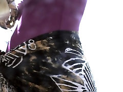 Pregnant teen big tights saggy with gost