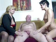 Real German Couple In Female Casting with mon and bay Tit MILF