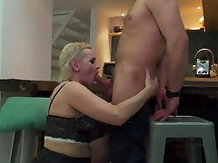 Hairy mature moms pussy gets sons big cock