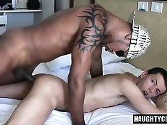 Big dick cat and dag interracial with anal cumshot