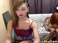 Two Hot Shemale in a Anal Sex Show