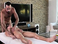 Hot jock massages, inserts a toy and fucks black and aisan twink