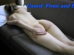 Caned, Front and Back - Spanking