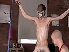 Gay bondage blow film Kieron Knight loves to suck the red-hot jizz