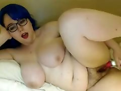 Chubby voyeur bathroom booty babe with perfect tits and hairy pussy