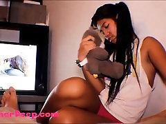 Thai taking xnx video Heather Deep gives deepthroat throatpie