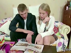 Petite teens jerking bed Get Her First Fuck after School at Homework