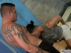 Dominic Pacifico and Jace Chambers train hard