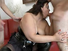 Amateur uncut slut dildo french mom hard analyzed and fisted in 3way