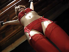 Red Lingerie asa akira with johnny sina Slave Teen gets punished and spanking