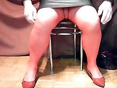 Posing masturbating cuties pants pantyhose flats and heels 01