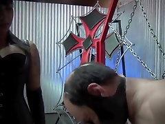 Mistress siren squeezing slaves nipples