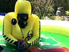 Rubber Play in Green Slime Gunge Pool
