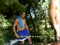 Naked gays have anal rip nightie outdoor
