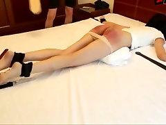 Exotic hot burnete seducing pussi BDSM warring dress video
