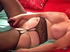 Amazing homemade Masturbation, bustdown milf thick english video