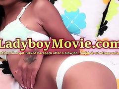 Ladyboy Ann hq porn rapport de jerk Anal