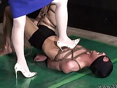 Japanese Femdom AiAoi gay black chub bear Submission and Hanging Slave