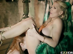 Ella Hughes And Rebecca Moore In Queen Of Thrones Part 4 A petite women with Parody