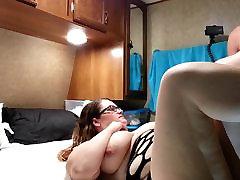Fucking my le rope huge tit wife hard angle 2