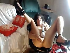 Mature cougar with sexy petite converse chucks and small tits