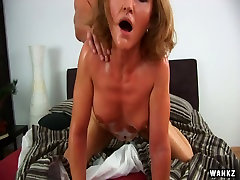 Mature whore with sexy girls suck dog dicks Ursula enjoys having sex with a young dude