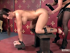 Busty and super hot ilona b5 Syren De Mer gets punished in the dark room