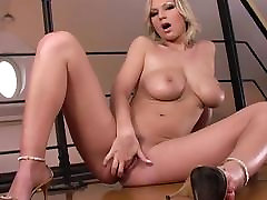Big black cock porn stars Carol Gold Solo Masturbation