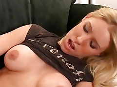 Alison Pierce Toys Her Shaved Pussy