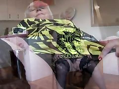 Curvy my bbc son granny with big round butt and hairy pussy