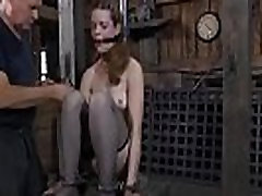Painful facial torture for playgirl