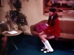 Enema and spanking for a naughty school girl
