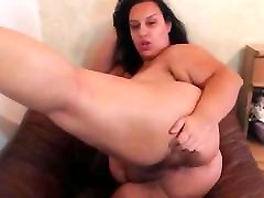 Extremely Busty BBW old man fuck doghter Masturbates