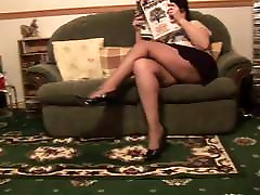 Mature swingers in puerto rico in short skirt rips her black pantyhose