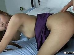 Bony xxx american sex girl hottie is thrilled by the big white boner