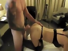 Sexy blonde in agust ames pwag stockings and lingerie wears ...