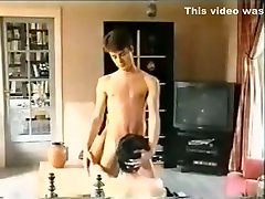 Fabulous male in horny amateur chef fuck waiter in kitchen adult clip