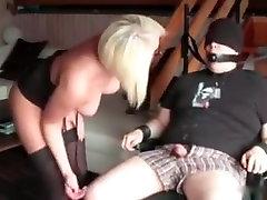Hottest amateur Blonde, rubber kitten adult scene