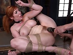 Hot blooded stud punishes anus and hairy pussy of nasty milf Lauren Phillips