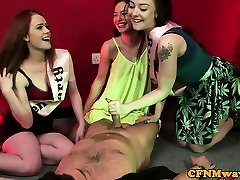 Bachelorette femdoms cocksucking their sub