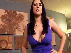 Blowjob and handjob from brunette in pantyhose