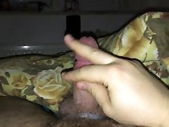 Cock ring wank with cumshot