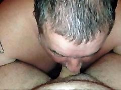 Chub daddy sucks cock 2