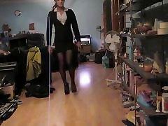 Wearing my sexy ruasin drink mini skirt suit & tore of booty seam nylons