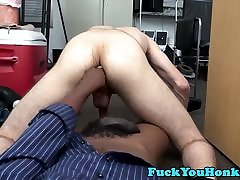 Cocksucking straight guy audrey dylan fucks in office